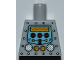Part No: 973pb1061  Name: Torso Robot with Silver Rivets, Yellow Gauges, Red Knobs and Yellow Screen Pattern
