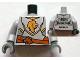 Part No: 973pb1172c01  Name: Torso Castle Kingdoms Gold Lion Head Front, 2011 The LEGO Store Sunrise, FL Back Pattern / Light Bluish Gray Arms / Dark Bluish Gray Hands