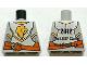 Part No: 973pb1174  Name: Torso Castle Kingdoms Gold Lion Head Front, 2012 The LEGO Store Woodlands, TX Back Pattern