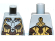 Part No: 973pb1203  Name: Torso Alien with Gold, Dark Brown and Silver Armor Pattern