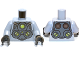 Part No: 973pb1229c01  Name: Torso Armor with Lime Circles Pattern (Doc Ock) / Light Bluish Gray Arms / Black Hands