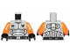 Part No: 973pb1270c03  Name: Torso Galaxy Squad Armor with Number 30 on Back Pattern / Orange Arms / Black Hands