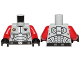 Part No: 973pb1270c04  Name: Torso Galaxy Squad Armor with Number 30 on Back Pattern / Red Arms / Black Hands