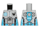 Part No: 973pb1271  Name: Torso Galaxy Squad Robot with Dark Azure and Black Piping Pattern