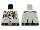 Part No: 973pb1436  Name: Torso Coast Guard, Shirt with Pockets and Copper Coast Guard Logo Badge and Belt Pattern