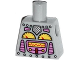 Part No: 973pb1515  Name: Torso Robot with Silver Rivets, Yellow Gauges, Dark Pink Screen Pattern