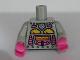 Part No: 973pb1515c01  Name: Torso Robot with Silver Rivets, Yellow Gauges, Dark Pink Screen Pattern / Light Bluish Gray Arms / Dark Pink Hands