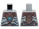 Part No: 973pb1717  Name: Torso Copper Armor, Dark Azure Round Jewel (Chi) Pattern