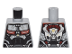 Part No: 973pb2266  Name: Torso Black, Dark Red and Silver Body Armor and Backpack Pattern