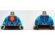 Part No: 973pb2869c01  Name: Torso Nexo Knights Armor with Orange Emblem with Yellow Crowned Lion, Blue Panels Pattern / Dark Azure Arms / Light Bluish Gray Hands