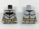 Part No: 973pb2982  Name: Torso Batman Logo with Muscles, Gold Outline, Gold Utility Belt Pattern
