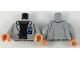 Part No: 973pb3184c01  Name: Torso Jacket with 'DR' Badge, Black Sweater, Dark Brown Belt Pattern / Light Bluish Gray Arms / Flesh Hands