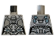 Part No: 973pb3226  Name: Torso Female Outline with Body Armor with Dark Bluish Gray Trim Pattern (Ghost)