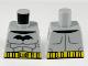 Part No: 973pb3742  Name: Torso Black Bat, Dark Bluish Gray Muscle Contours, Yellow Utility Belt Pattern