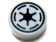 Part No: 98138pb020  Name: Tile, Round 1 x 1 with SW Emblem of the Galactic Republic with 6 Spokes Pattern