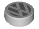 Part No: 98138pb058  Name: Tile, Round 1 x 1 with VW Logo Pattern