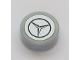 Part No: 98138pb106  Name: Tile, Round 1 x 1 with Silver Mercedes-Benz Logo Pattern (Sticker) - Set 42043