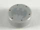 Part No: 98138pb111  Name: Tile, Round 1 x 1 with Silver Bat Batman Logo and 6 Reddish Brown Rivets Pattern