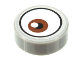 Part No: 98138pb141  Name: Tile, Round 1 x 1 with Reddish Brown Eye Pattern