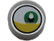 Part No: 98138pb145  Name: Tile, Round 1 x 1 with Lateral Green Eye and Yellow Eyelid Pattern