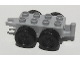 Part No: bb0392  Name: Duplo Trailer Base 2 x 4 with Four Wheels and Hitch Ends
