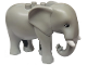 Part No: eleph3c01pb01  Name: Duplo Elephant Adult Stationary Head with Molded Tusks, Eyes Top Straight Pattern
