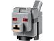 Part No: minewolf03  Name: Minecraft Wolf, Baby, Red Eyes - Brick Built