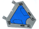 Part No: x1435pb007  Name: Flag 5 x 6 Hexagonal with Blue Milano Spaceship Pattern (Sticker) - Set 76021