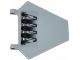 Part No: x1435pb010  Name: Flag 5 x 6 Hexagonal with Mechanical Hinge Pattern (Sticker) - Set 70725