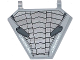 Part No: x1435pb021  Name: Flag 5 x 6 Hexagonal with Silver and Dark Bluish Gray Armor Plates and 'STARK INDUSTRIES' Pattern (Sticker) - Set 76031