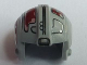 Part No: x164pb05  Name: Minifigure, Headgear Helmet SW Rebel Pilot with Dark Red Markings Pattern