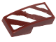 Part No: 11477pb078L  Name: Slope, Curved 2 x 1 with 4 Rugged White Diagonal Stripes on Reddish Brown Background Pattern Model Left Side (Sticker) - Set 75254