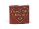 Part No: 15068pb194  Name: Slope, Curved 2 x 2 with 'BUILD YOUR DREAMS K.F.' in Outlined Heart Pattern