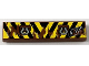 Part No: 2431pb159  Name: Tile 1 x 4 with Black and Yellow Danger Stripes and Tow Rings Pattern