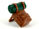 Part No: 26073pb04  Name: Minifigure, Backpack with Dark Green Bedroll Pattern