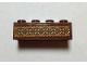 Part No: 3001pb152  Name: Brick 2 x 4 with Reddish Brown, Tan and Nougat Polynesian Design Pattern (Sticker) - Set 41150