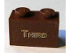 Part No: 3004pb093  Name: Brick 1 x 2 with Gold 'THIRD' Pattern (Sticker) - Set 10194