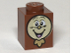 Part No: 3005pb038  Name: Brick 1 x 1 with Cogsworth Clock Face Pattern