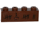 Part No: 3010pb183  Name: Brick 1 x 4 with Tally Marks and Cake with Candle Pattern (Sticker) - Set 79008