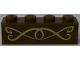 Part No: 3010pb283  Name: Brick 1 x 4 with Gold Scrollwork Pattern (Sticker) - Set 41174