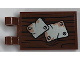 Part No: 30350bpb069  Name: Tile, Modified 2 x 3 with 2 Clips with Worn Plates Pattern (Sticker) - Set 21310