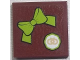 Part No: 3068bpb0629  Name: Tile 2 x 2 with Groove with Bow Tie and Small Pretzel Pattern (Sticker) - Set 10216