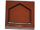 Part No: 3068bpb0787  Name: Tile 2 x 2 with Groove with Black Pentagon Pattern (Sticker) - Set 75020