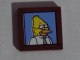 Part No: 3068bpb0955  Name: Tile 2 x 2 with Groove with Abe Simpson / Grampa Simpson / Grandpa Simpson Portrait Pattern (Sticker) - Set 71006