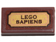 Part No: 3069bpb0749  Name: Tile 1 x 2 with Groove with 'LEGO SAPIENS' Pattern (Sticker) - Set 21320