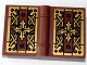 Part No: 33009pb038  Name: Minifigure, Utensil Book 2 x 3 with Gold Cross Pattern (Stickers) - Set 79010
