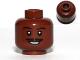 Part No: 3626bpb0749  Name: Minifigure, Head Moustache Thin Split, Smile, Eyebrows, Eyes with White Pupils Pattern (SW Lando) - Blocked Open Stud