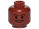 Part No: 3626cpb0214  Name: Minifigure, Head Moustache Thin, Standard Grin, Eyebrows, Small Eyelashes Pattern (SW Lando) - Hollow Stud