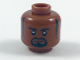 Part No: 3626cpb1959  Name: Minifigure, Head Black Eyebrows, Sideburns and Goatee, Lopsided Grin Pattern - Hollow Stud
