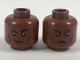 Part No: 3626cpb2046  Name: Minifigure, Head Dual Sided Black Eyebrows and Cheek Lines, Smirk with Raised Eyebrow / Firm Expression Pattern - Hollow Stud
